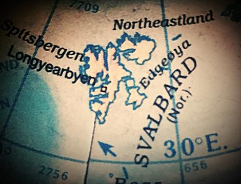 Map of svalbard