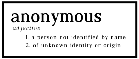 definition of anonymous