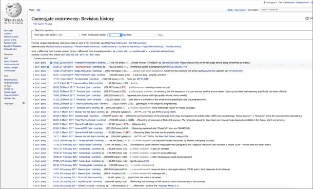 Wikipedia gamergate editors