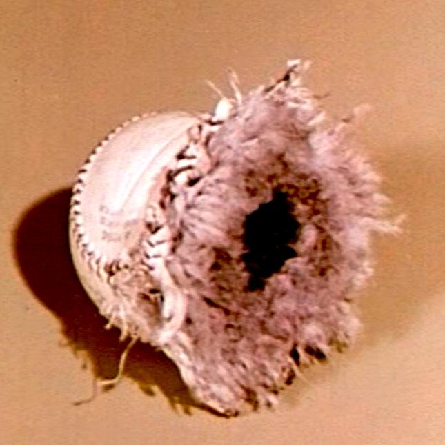 exploded baseball