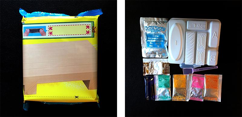 Contents of diy sushi box