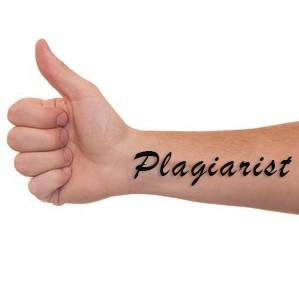 Plagiarist tattoo