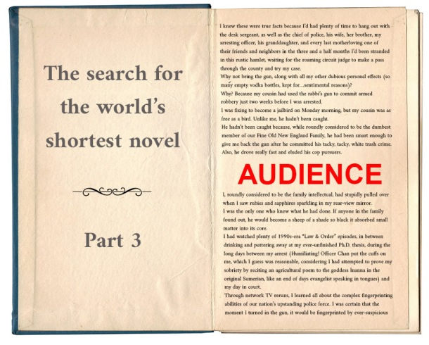 Worlds shortest novel_audience