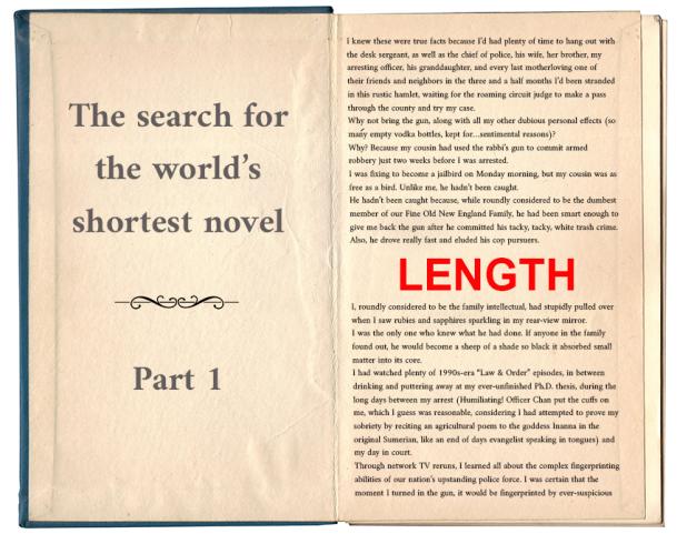 World's shortest novel_length