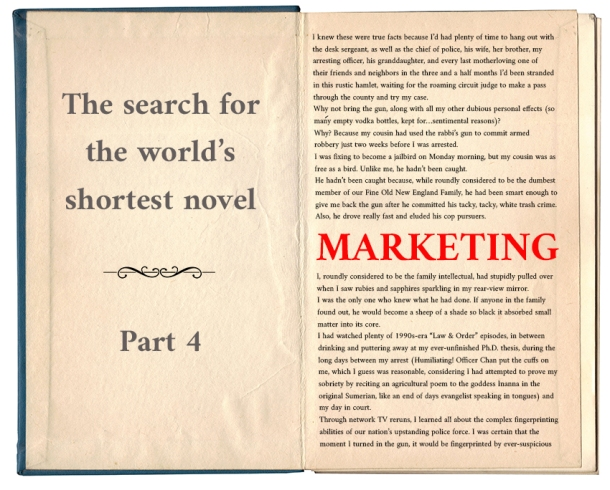 World's shortest novel_marketing