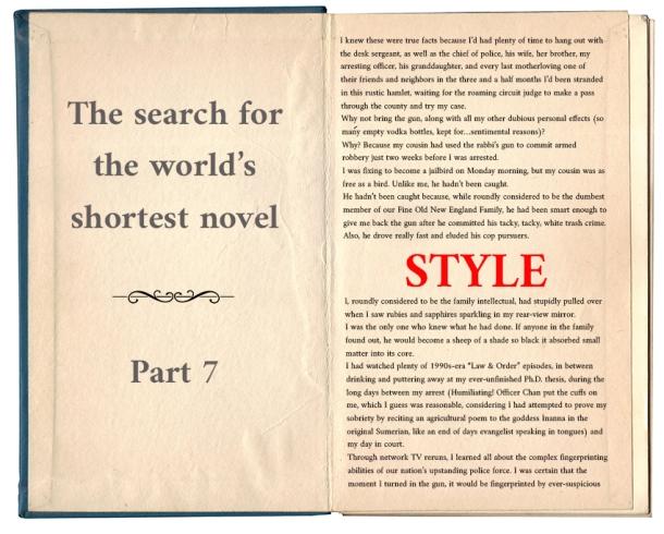 Worlds shortest novel_style