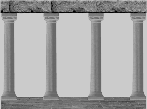 Columns with roof