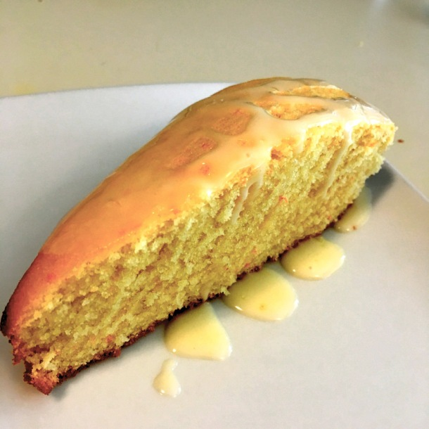 Golden rod cake slice